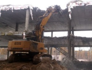 Демонтаж железобетонных строений