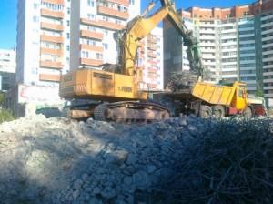 демонтаж железобетонных конструкций гидроножницами