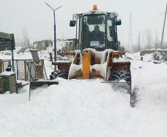 Расчистка территорий от снега